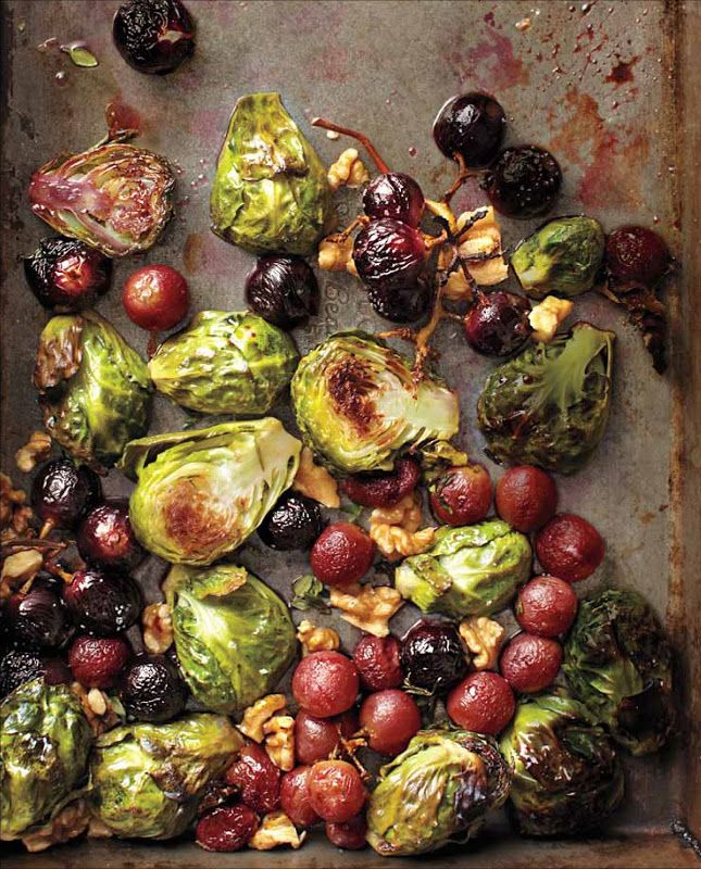 Roasted Brussels Sprouts and Grapes with Walnuts - The brussels ...