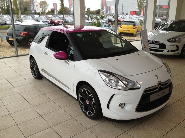 Hartwell's Citroen DS3 with Pink Roof! Raising money for Breast Cancer Awareness #pink #citroen #Hartwell