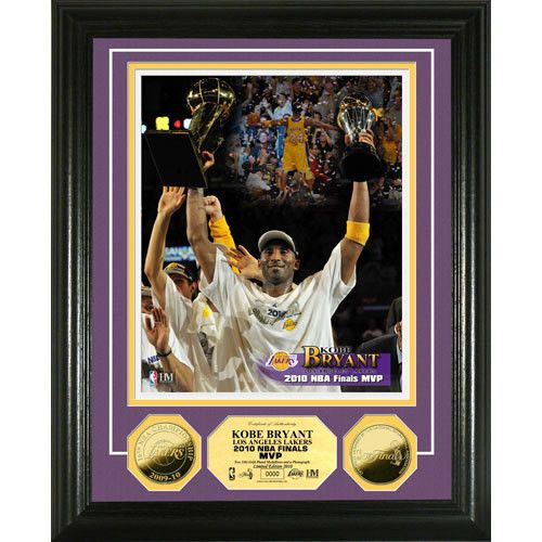Los Angeles Lakers 2010 NBA Finals MVP 24KT Gold Coin Photo Mint