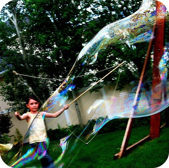 giant bubble wands and soap recipe