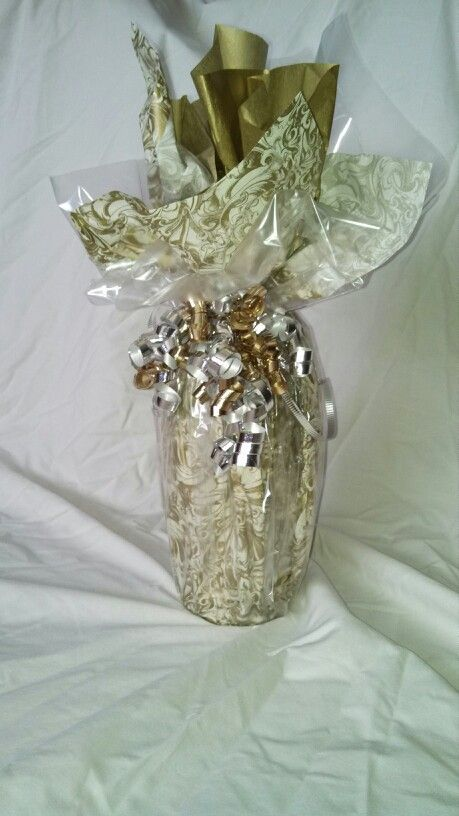 62 best wrapped wine bottle images on pinterest for How to decorate a wine bottle for a gift