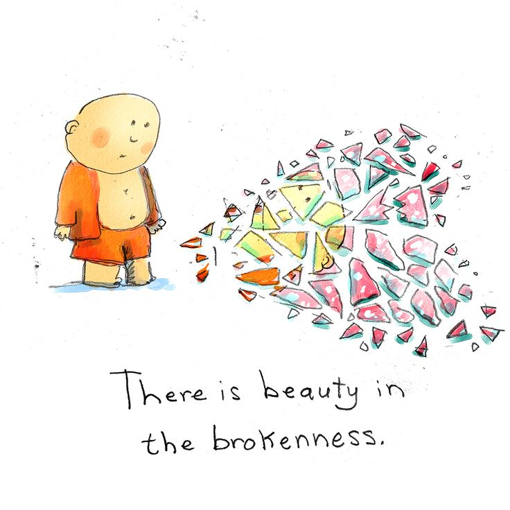 there is beauty in brokenness - and pain