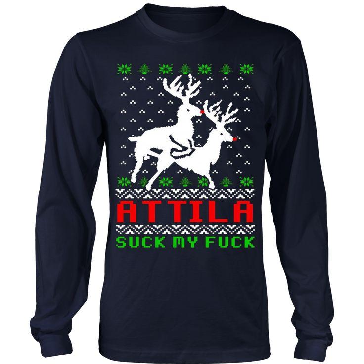 Attila Ugly Christmas Sweater Hoodie
