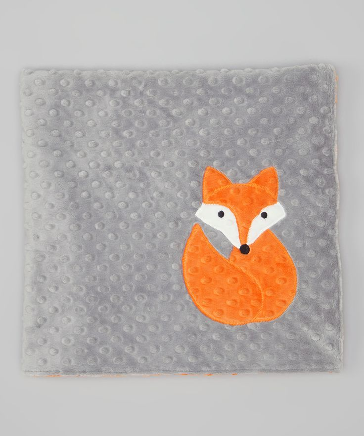 Orange & Silver Fox 30'' x 30'' Stroller Blanket