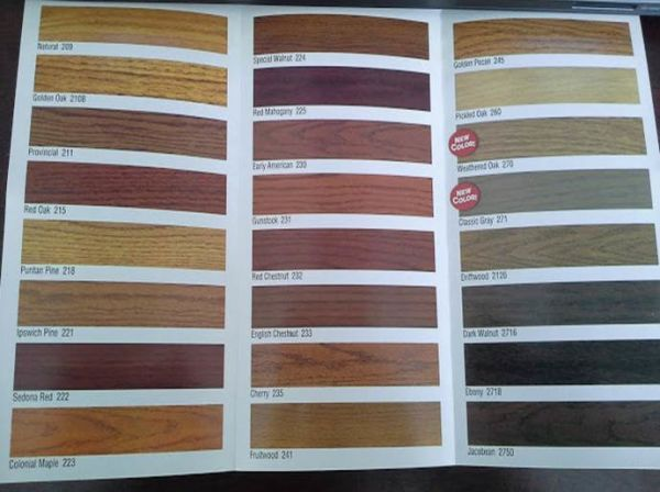 minwax stain samples