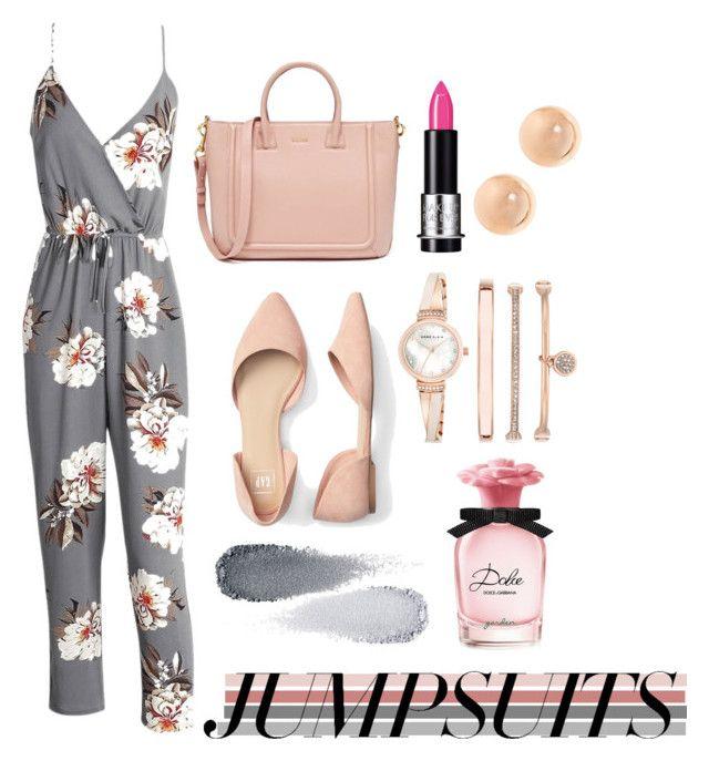 """Jumpsuit Crazy"" by clareceq29 on Polyvore featuring Dolce&Gabbana, Clé de Peau Beauté, MAKE UP FOR EVER, Anne Klein and jumpsuits"