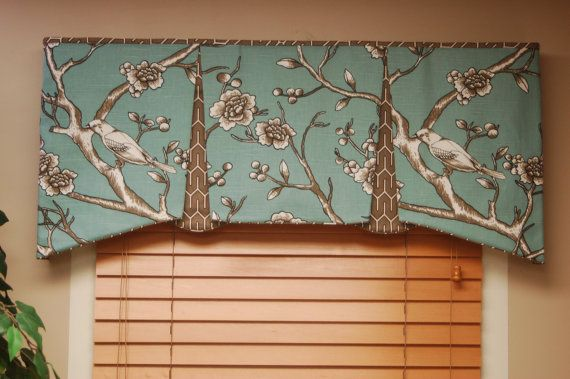 Custom Valance EMMA Hidden Rod Pocket by BlackBeltHomeDecor, $85.00