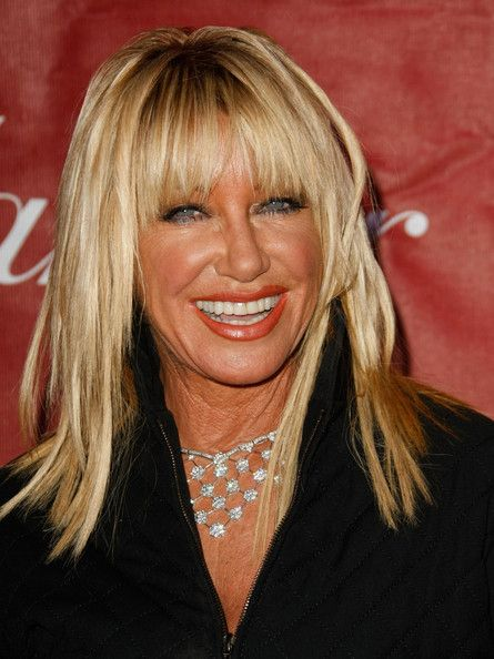 how to cut suzanne somers bangs