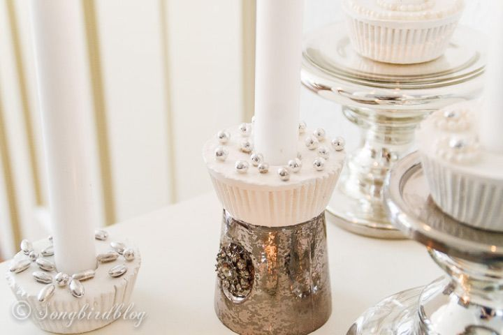 Plaster of paris crafts for kids - Cupcake Candle Holders