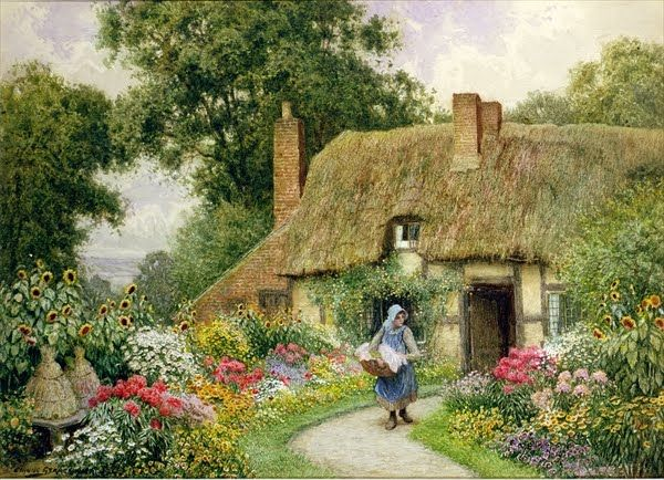 Arthur Claude Strachan 1865 1929 Ingles Cottages Blog De Un Admirador English CottagesCountry CottagesLandscape PaintingsStorybook