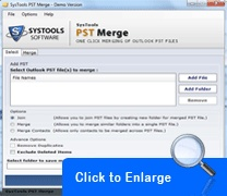 A program that makes it easier for you to combine several PST files together into one PST file without any efforts.