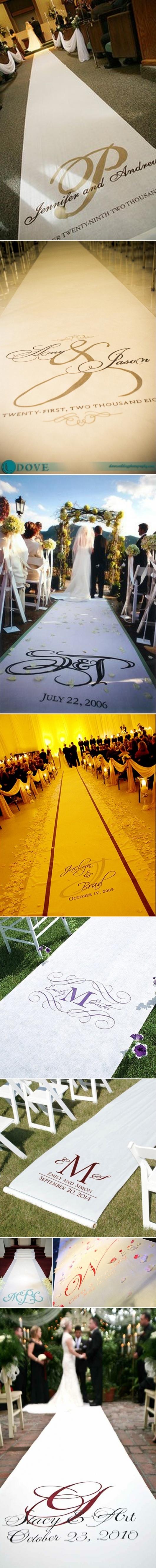 aisle runnersAisle Runners Sweets, Monograms Ideas, Wedding Aisles, Turquoise Monograms, Personalised Aisle