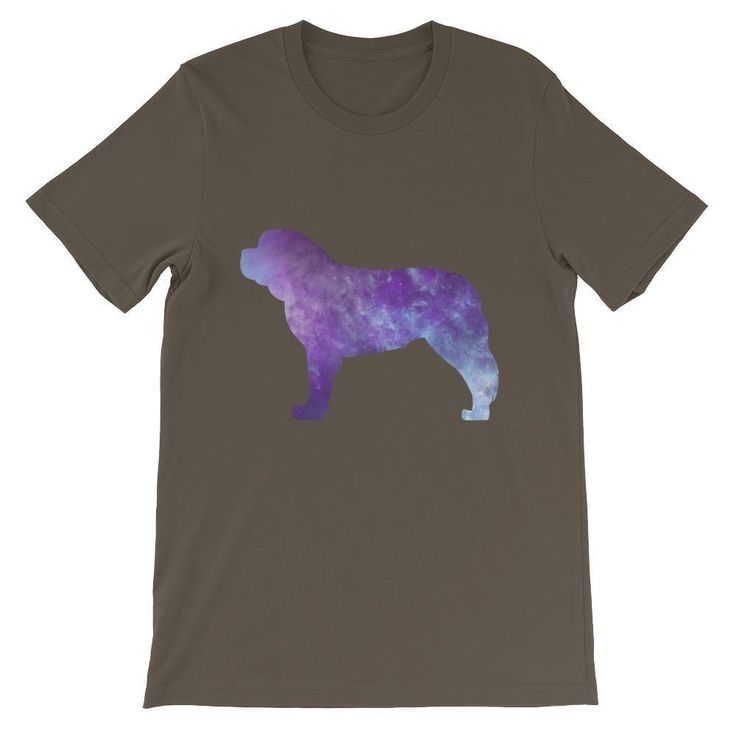 Saint Bernard Galaxy Design - Unisex short sleeve t-shirt