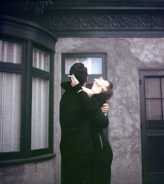 Dean Martin and Audrey Hepburn on the set of Sabrina, 1954, by Globe Photos