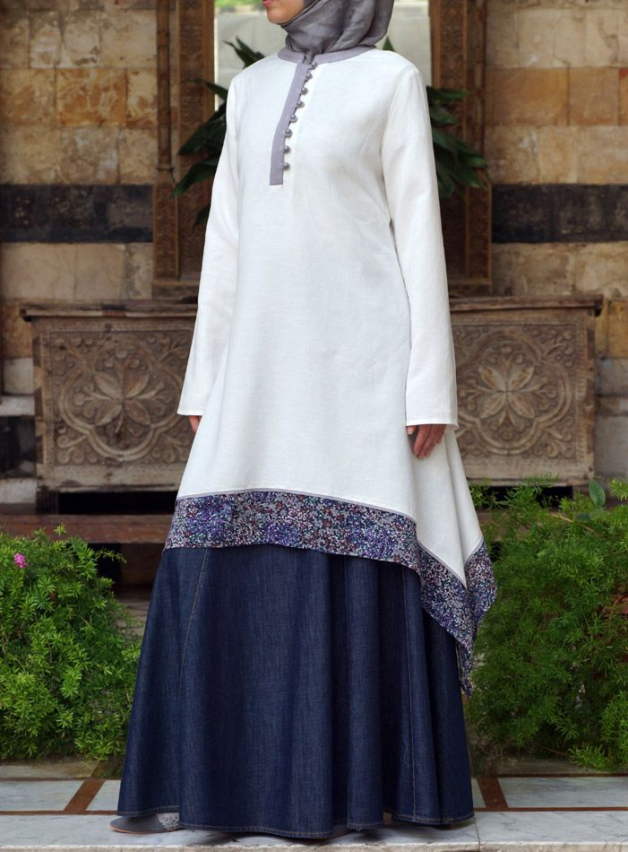 Such a fun summer #hijabi look. From shukronline.com