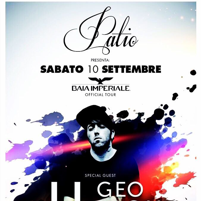 Sabato 10 settembre 2016 #patio #patioonenight #baiaimperiale #baiaimperialeparty special guest #geofromhell .... #dimitrimazzoni