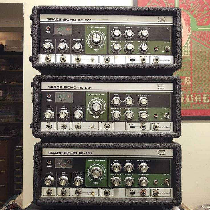 Start 2018 right. Here we have the three Space Echoes we completed work on and listed for sale this week. One is now sold - still available we have one converted to 240v with a new transformer fitted and a pretty spectacular sounding rare early example that is also an original 220/240 machine. And we've also got a 120v one up currently if you're on the other side of the Atlantic.  If you still need to be convinced about whether one of these is worth your time and money head to the Gear Info…