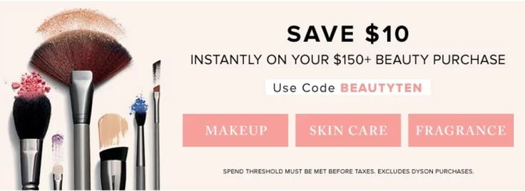 Hudsons Bay Canada Deals: Save $10 Instantly on your $150 Beauty Purchase With Promo Code http://www.lavahotdeals.com/ca/cheap/hudsons-bay-canada-deals-save-10-instantly-150/195151?utm_source=pinterest&utm_medium=rss&utm_campaign=at_lavahotdeals