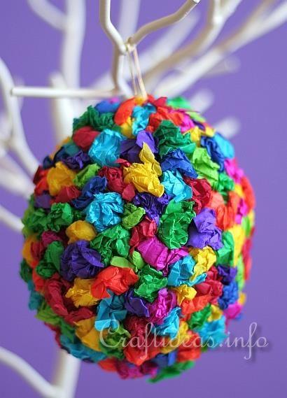 Manualidades para niños en edad preescolar *: Tissue Paper Craft del huevo de Pascua