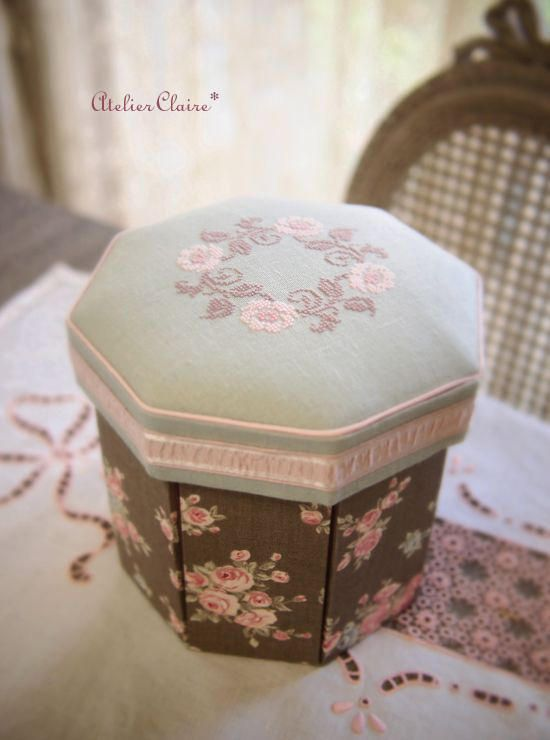 Image de la couture boîte octogonale: Claire Diary