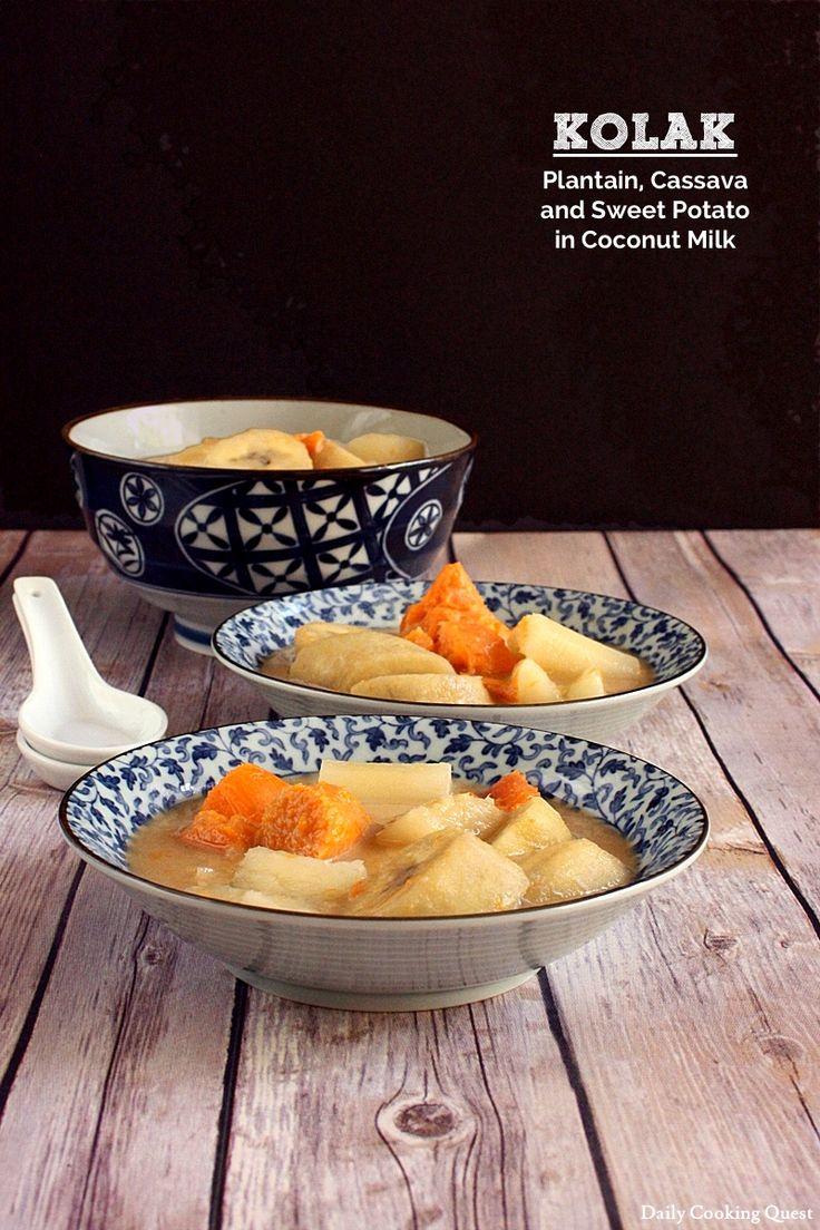 Kolak - Plantain, Cassava, and Sweet Potato in Coconut Milk