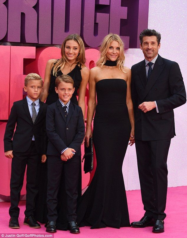 Suave: A suited Patrick Dempsey made the night a family affair, turning up with…