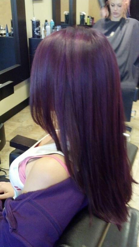 dark violet ellumen color by ashley stone hair styles