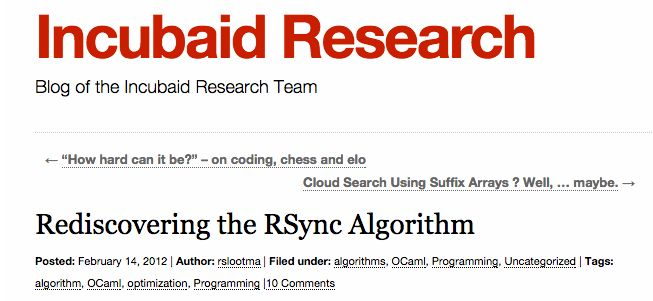 Rediscovering the Rsync Algorithm, pros and cons of using it.