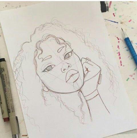 #femweibliches #zeichnungen #weibliches #mädchens #lockigem