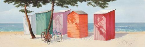 Obraz Kabiny plażowe I http://decortis.com/pl/p/Obraz-Kabiny-plazowe-I/244
