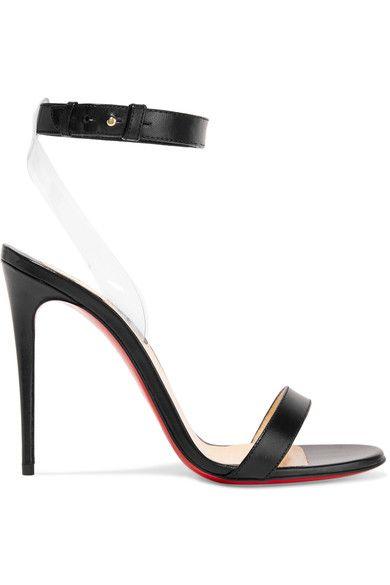Christian Louboutin - Jonatina Leather And Pvc Sandals - Black - IT39.5