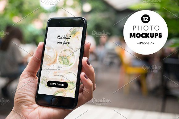 iPhone 7 at coffee garden - x12  by show it better on @creativemarket