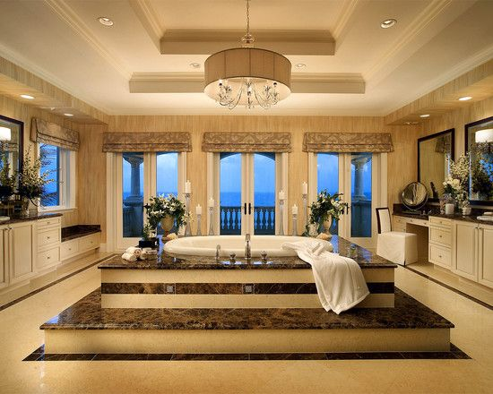 Mediterranean Design, Pictures, Remodel, Decor and Ideas - page 4; My dream bath tub--all that's missing are the lion claw feet