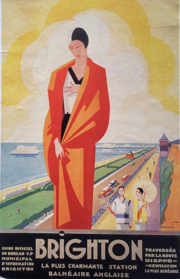 French Brighton poster c.1930.