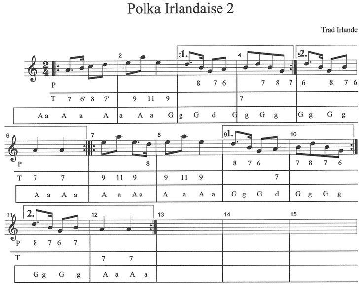 Atelier Folk, Accordéon et bloody mary: Polka irlandaise 2 tablature Diato