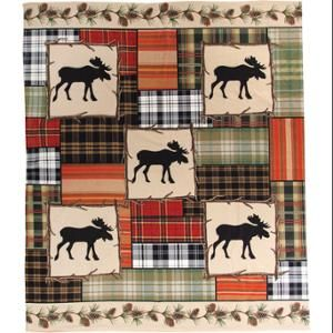 "$39.99 x2 Wildlife Moose Decorative Throw Blanket 50"" x 60"" for twin beds- Blake"