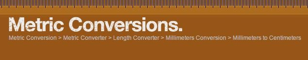 Millimeters to Centimeters conversion