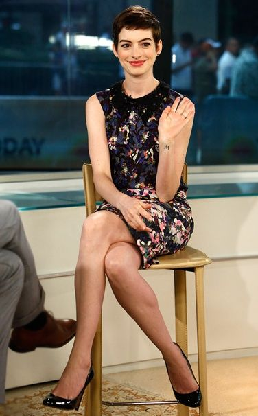Anne Hathaway/in Erdem at the Today's Show on 7/12 - Vogue's 10 Best Dressed for the Week of 7/16/12