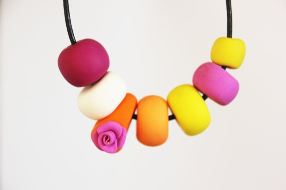 Rose Necklace by MariposaReloaded on Etsy, $32.00