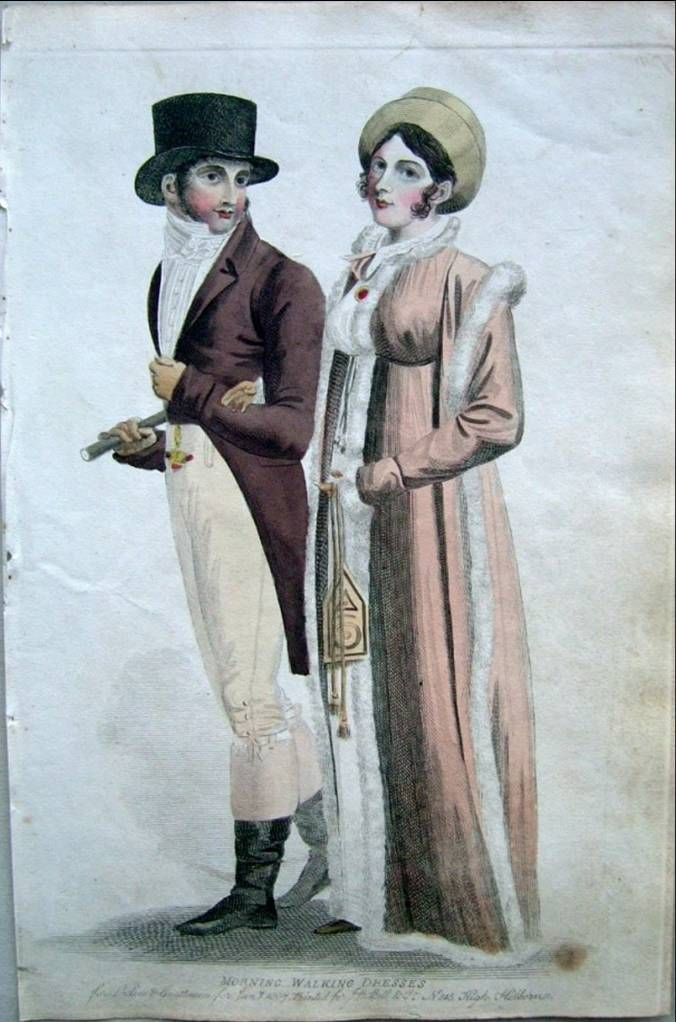 A lady and gentleman. Le beau monde, 1807