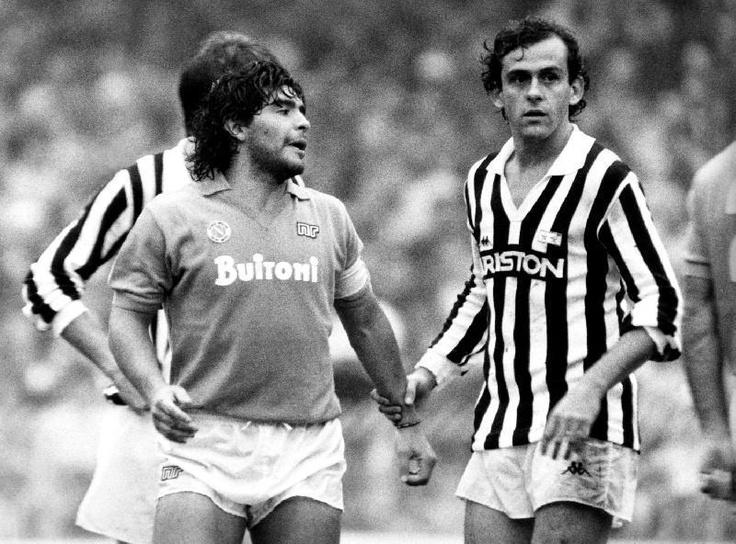 Juventus - Napoli.   Platini - Maradona.