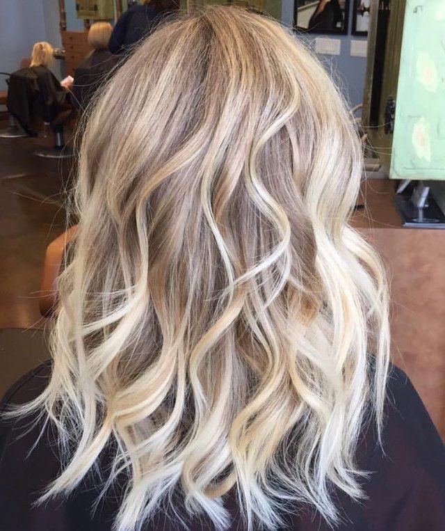 Blonde Balayage Fancyfollicles Nouvelles Couleurs De Cheveux Coiffure Cheveux Mi Long Colloration Cheveux