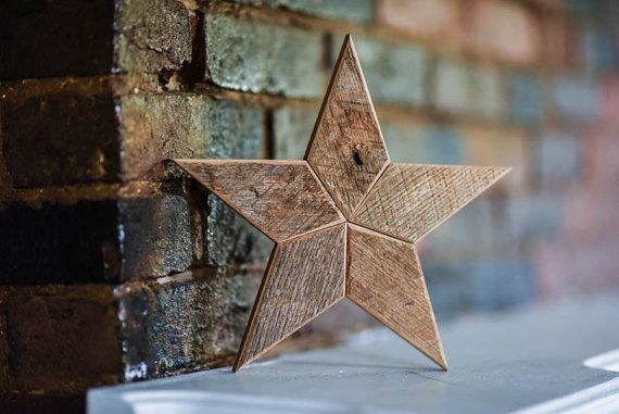 This beautiful wooden star Christmas tree topper is perfect way to top off your beautiful tree! Its made from reclaimed wood and brings the