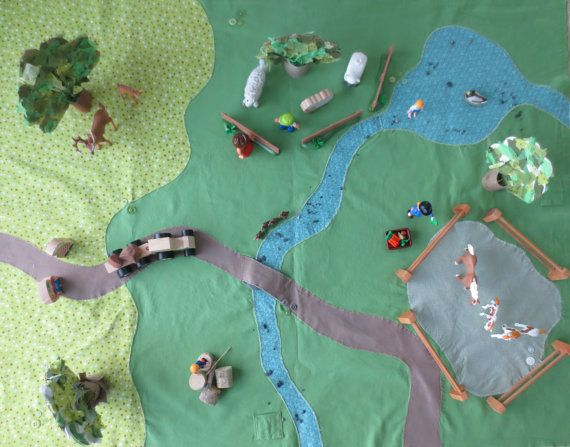 Handmade playmat that sets the scene for creative play. Little Worlds, big adventures!