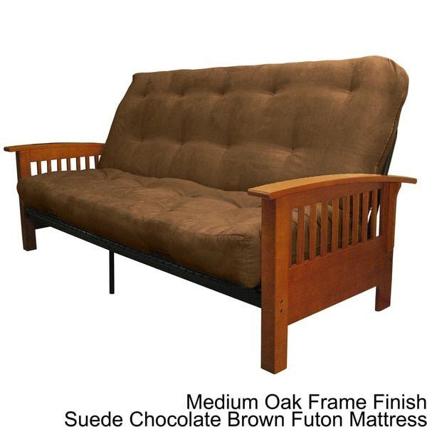 Modern Sectional Sofas Brendan Mission style Queen size Inner Spring Futon Mattress Set Sleeper Bed