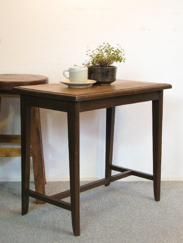 【アンティーク 古道具 JIKOH】アンティーク レトロ ヴィンテージ 造りの良いナラ材のサイドテーブル/コーヒーテーブル【楽天市場】