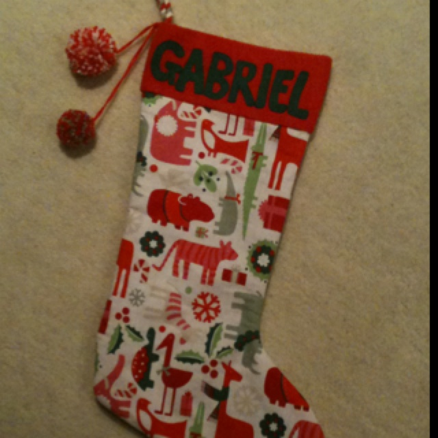 Christmas stocking for my nephew