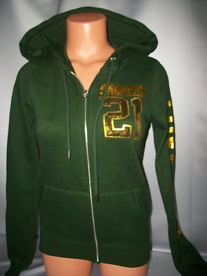 Victorias Secret Pink Sequins Bling Green Bay Packers Hoodie NWT XS