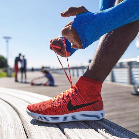The right pair of running sneakers will mean a more comfortable run and lower risk of injury. Most running specialty stores can analyze your gait and tell you which sneakers will work best for the way your foot lands, the amount of cushioning you like, the kind of terrain you're running on, and how many miles you're running each week.