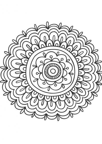 Coloriage Mandala fleur 3